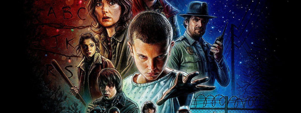 stranger things timeline banner art