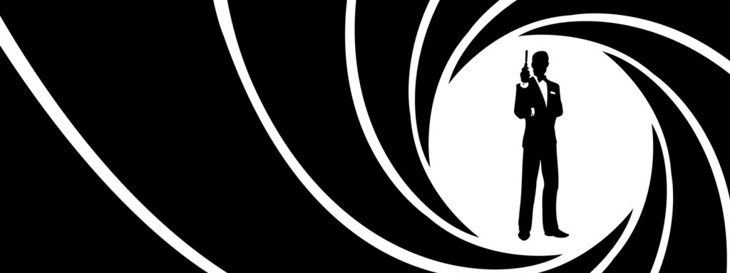 james bond timeline banner art