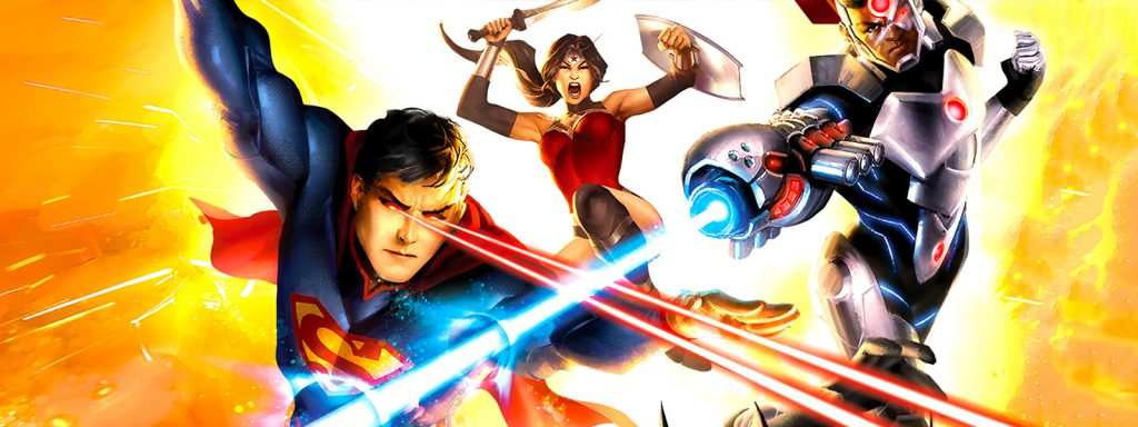 dc animated movie universe timeline banner art