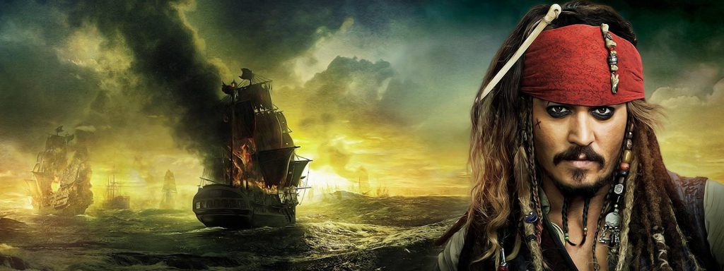 pirates of the Caribbean timeline banner art
