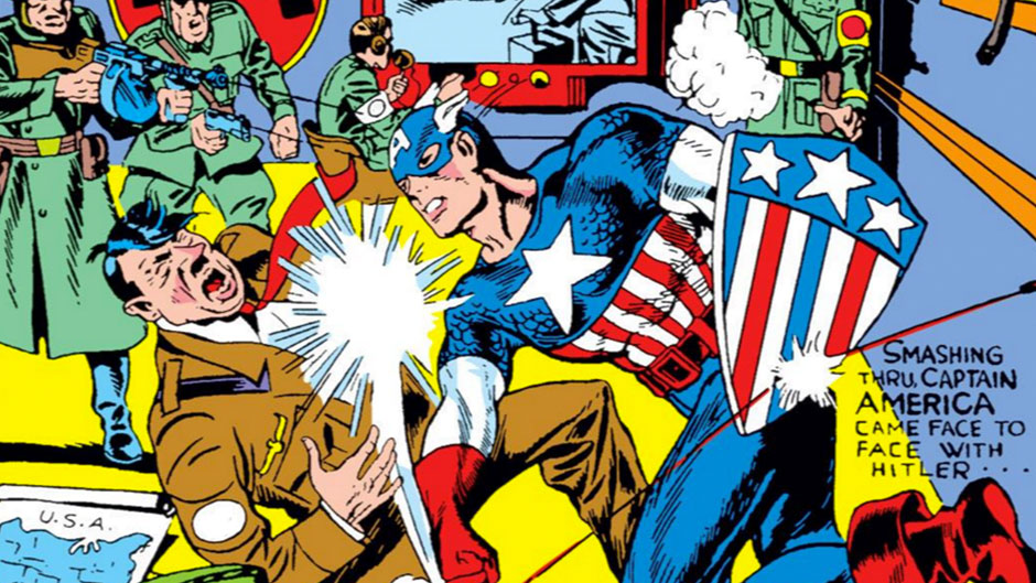 banner image for captain america's comic book origin