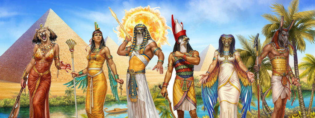 egyptian mythology and literature banner art