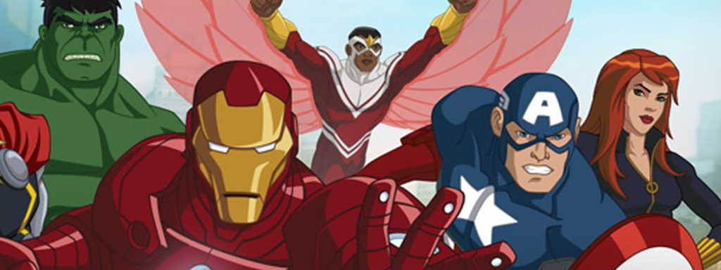 Banner image from the marvel animated universe of the 2010s.