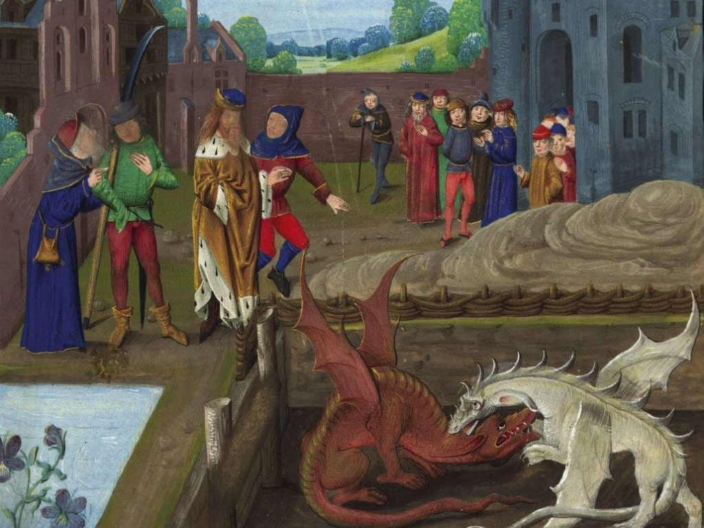The Britons with two dragons