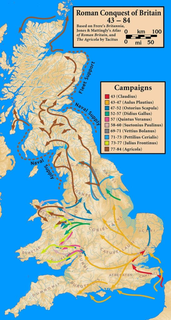 Roman Conquest of Britain map