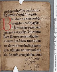 A page from the Black Book of Carmarthen