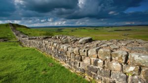 Hadrian's Wall marked the edge of the Roman Empire in Britain