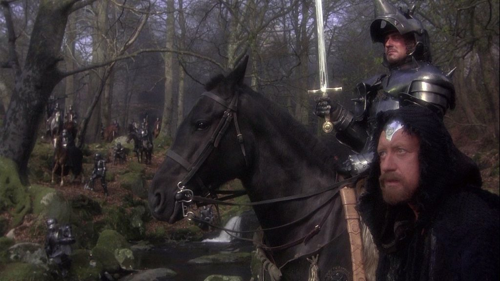 Uther Pendragon in the film Excalibur