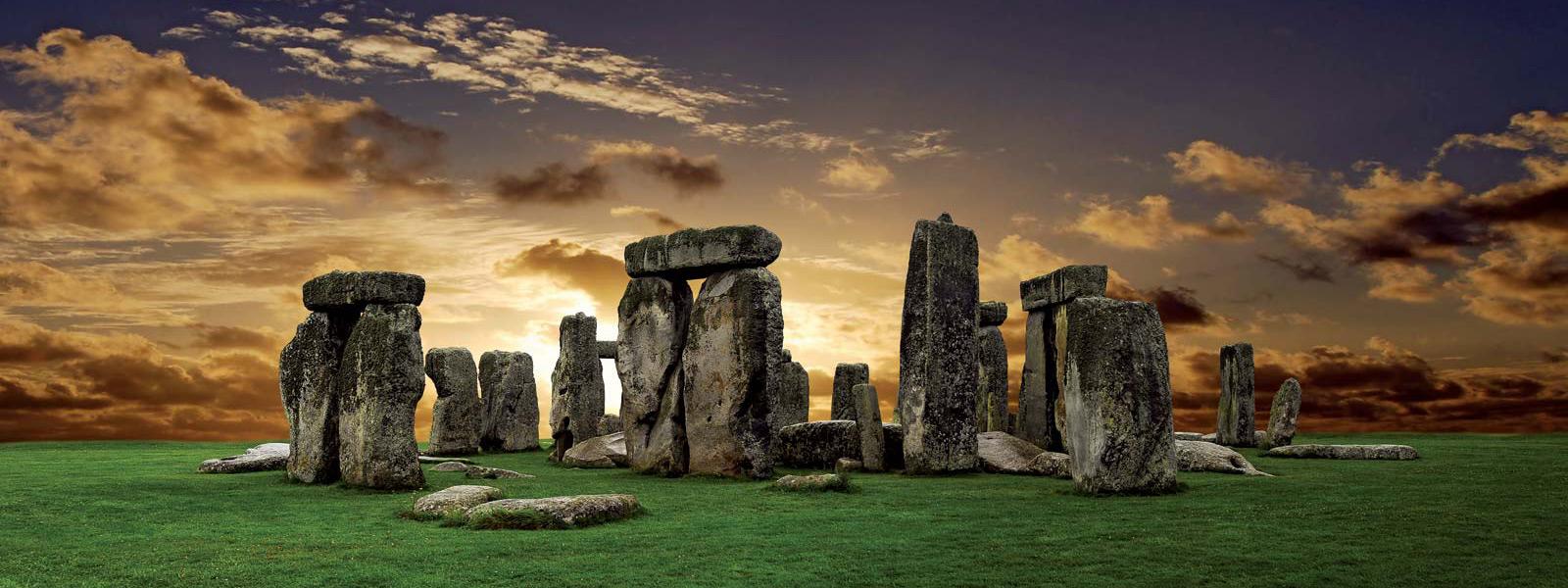 banner of stonehenge for the british history timeline