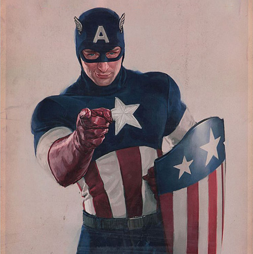 captain america in the I Want You pose, pointing people to my Patreon campaign