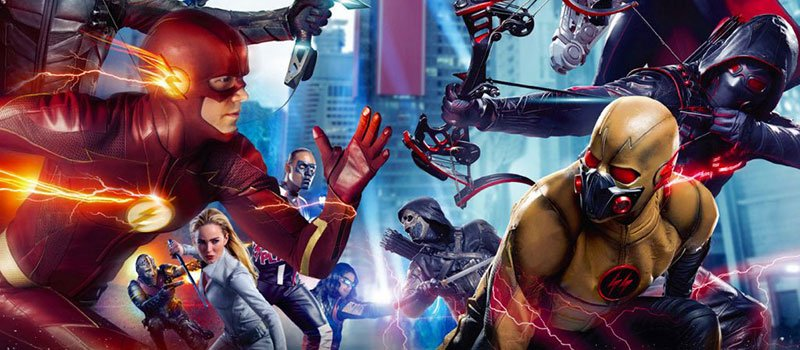 crisis on earth x arrowverse crossover artwork